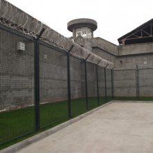 湛江部队钢丝防护网 监狱镀锌围栏网 Y型柱带刺护栏网包送货