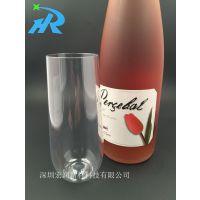 供应郁金香型无脚香槟杯,塑料无脚香槟杯