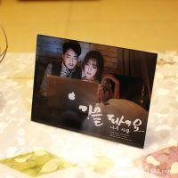 情侣水晶相框摆台创意照片框定制做韩版冰雕玻璃一体式相片框唯美