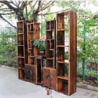 厂家直销老船木博古架置物架实木架子展示架多宝阁酒架古董架