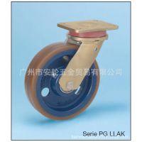 德国WICKE威卡脚轮 PG(PU)加强型10寸固定/万向/带刹车 重型工业机械设备车轮