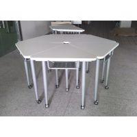 组合会议桌 多媒体学习桌椅 众晟家具培训板式桌椅定制