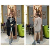 2017年新款羊驼绒大衣广州品牌折扣批发哪家好 女装折扣批发销售