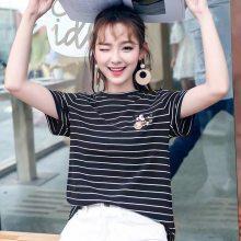 夏季厂家直销江苏常熟国际服装城女夏装T恤货源批发明星同款夏装新款批发