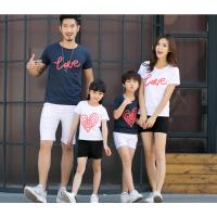 新款亲子装尾货清仓时尚女装短袖大量批发夏装男女T恤厂家直销