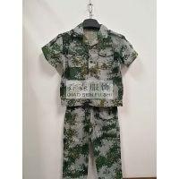 学生军训服迷彩T恤裤子 大学生军训服装丛林绿海洋蓝空绿电子迷彩服