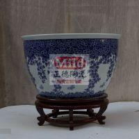 正德陶瓷招财鱼缸大件装饰缸