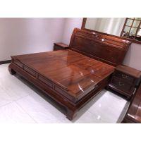 中山名琢世家红木家具刺猬紫檀现代中式大床价格