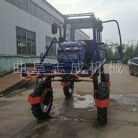 新款小麦玉米蔬菜打药杀虫机 700L自走式高架喷雾器 水旱田撒肥打药一体机志成机械
