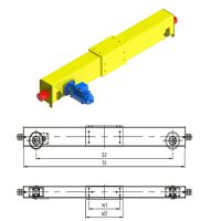 General Single Girder Top Running End Carriage