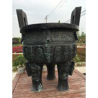 定制寺庙祠堂长方形平口香炉 大型铜鼎 铸铁方鼎 仿古香炉宝鼎佛鼎铜铁