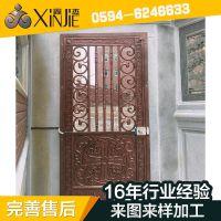 厂家供应 防爆小区庭院铸铝门 精雕欧式铸铝推拉门批发XJ-8630