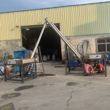 温州螺旋输送机 水平输送机 塑料颗粒上料机厂家 石粉铁粉上料机