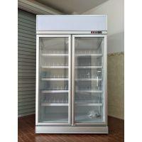 飞尼特FC-DD126双门饮料柜冷藏展示柜超市冷柜厂家直全国联保