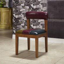 时尚主题餐椅订做,深圳实木餐饮店椅子厂家