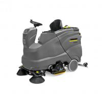 德国凯驰B150R驾驶式多功能洗地机大型洗地吸干机 36V电瓶式刷地机 替代B140