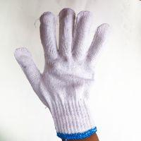 厂家直销鼎能500克优质棉纱耐磨工作普通劳保线手套 加厚电脑十针加密灯罩棉线手套