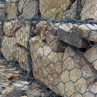矽胶包塑五拧生态石笼网