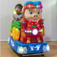 电动投币欢乐小孩摇摇车 开心农场玉米摇摇机 摇摆机带音乐遥遥车玩具