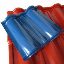 供应仿古琉璃瓦 门头滴水檐瓦 屋顶防水装饰瓦PVC 合成树脂瓦