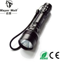 厂家批发 led铝合金强光手电筒 户外照明充电强光手电筒