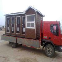大型移动木质厕所 4蹲位公共洗手间 枫雪园林免水节能防雨隔热户外公厕