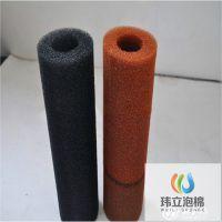 彩色过滤海绵实心柱子 空心聚氨酯过滤海绵管厂家直销定制