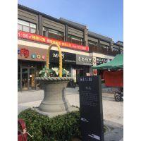 商业街水泥花篮雕塑 青岛雕塑基地