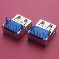 比特币挖掘机专用USB 3.0母座/90度插板DIP/平口直边/9PIN/卧式