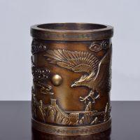 笔筒 家居摆件中国青铜器工艺品 装饰品