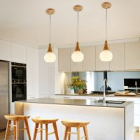 供应蒙宇现代简约餐厅吊灯个性创意咖啡厅日式原木质走廊吧台三头卧室灯具
