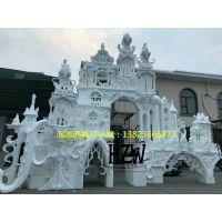 广东一站式婚庆舞台道具泡沫雕塑制作 婚礼场景布置泡沫效果图