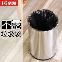 帝梵不锈钢垃圾桶双层金属家用卫生间厨房卧室无盖客厅办公室大号小号中号