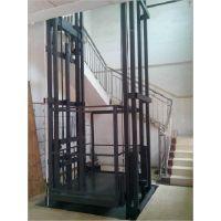 济南厂家生产导轨式液压升降台货梯 厂房货梯简易 双臂双杠升降平台
