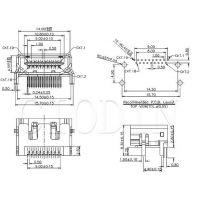 DEKANG 插件 HDMI-019A 外形尺寸:14.0mm*4.55mm*10.0mm