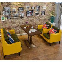 2017新款卡座沙发 咖啡厅卡座沙发尺寸 订做卡座沙发