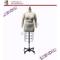 高档欧美标准立裁模特 JDL肥婆女半身人体带网板房模特