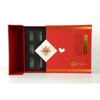 广州货源定做高档纸盒化妆品盒烫金内贴 eva防伪精致包装盒批发