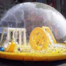 商场活动专用大型水晶宫儿童充气海洋球池乐园直径12米可定做