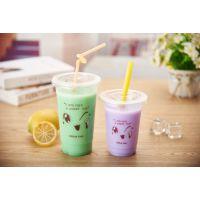 聚金龙厂家直销一次性塑料杯奶茶店专用透明奶茶杯果汁杯