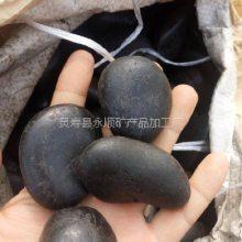 河北沧州永顺公园铺路用3-5cm纯黑色鹅卵石 纯黑色鹅卵石厂家直销