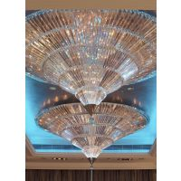 北京定制酒店现代简约大型水晶LED灯