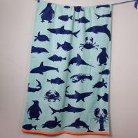 迎春雨纯棉沙滩浴巾 游泳运动旅行沙滩巾欧洲毯超轻垫巾速干