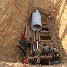 义乌市污水管道顶管机 《洪鑫》 320吨人工掏土顶管机制造厂家