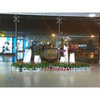 商场美陈花盆供应厂家玻璃钢假花装饰花钵