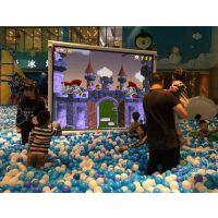乐园幼儿园淘气堡儿童互动3D立体投影砸球投球体验游戏广州厂家