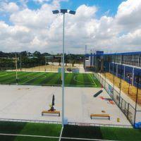 惠州市供应篮球场高杆灯灯杆材质 学校球场施工方案 8米篮球场灯杆有现货