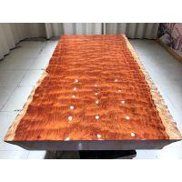 巴花大板桌 实木原木大板办公电脑桌茶台餐桌 现货特价200长100宽