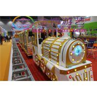新型儿童游乐场设备烟囱小火车 无轨小火车 电动观光小火车厂家