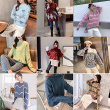 便宜针织衫套头毛衣库存尾货杂款女士羊毛衫春季女装上衣打底衫批发